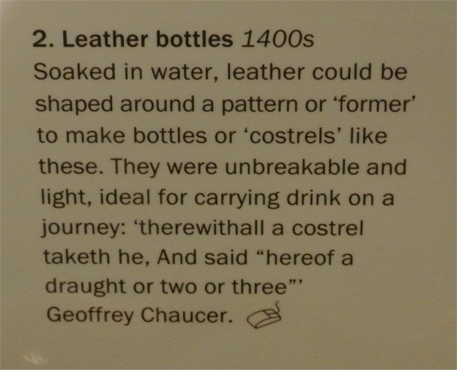 leather bottle description