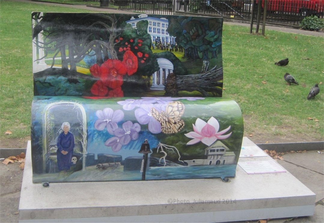 Agatha Christie bench by Juliamaud