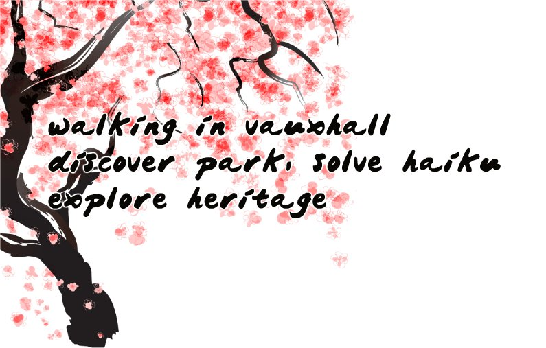 vauxhall treasure hunt haiku