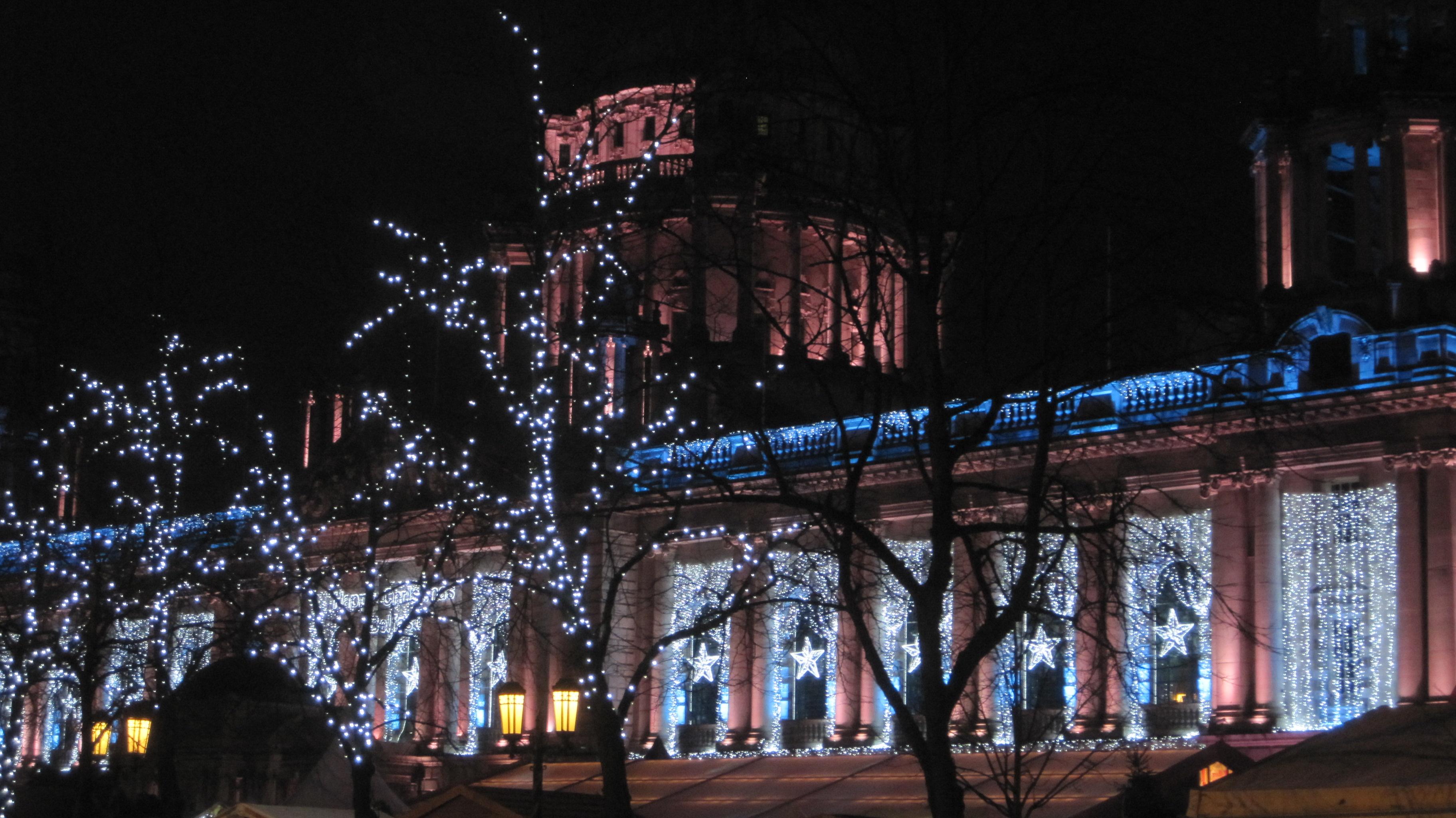 Belfast City Hall at Christmas by juliamaud