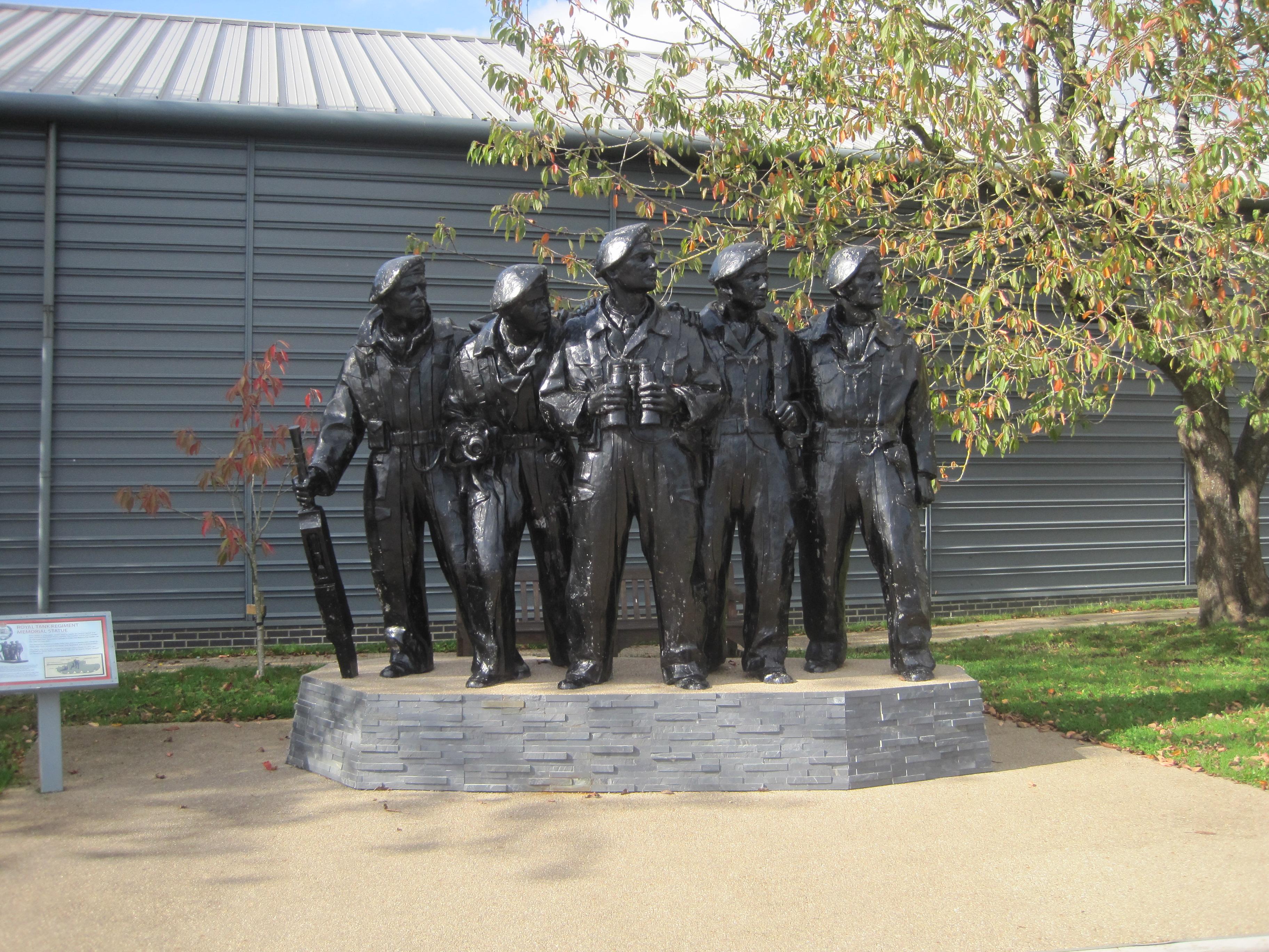 Royal Tank Regiment Memorial Statue - photo Juliamaud