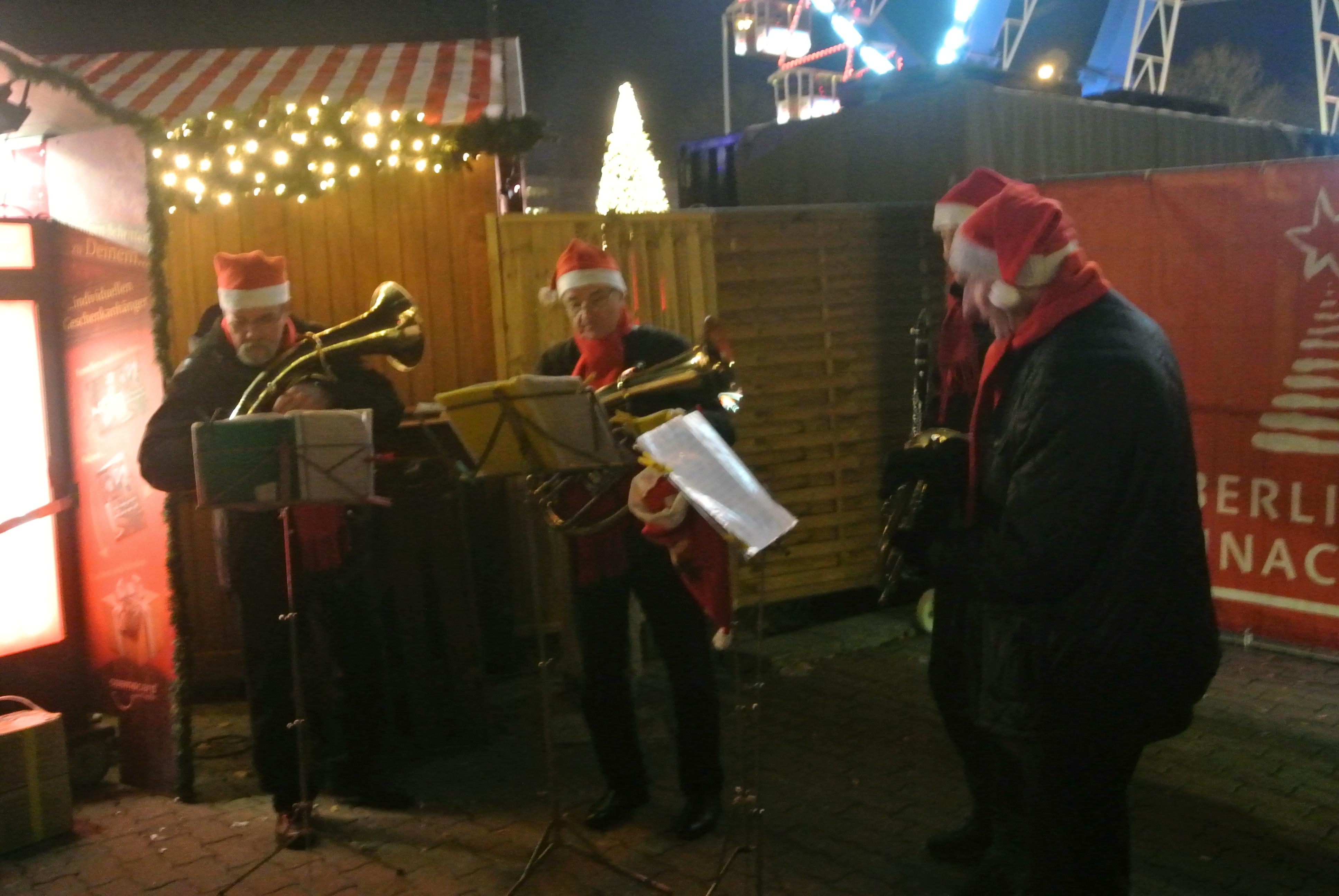 German Band at Christmas Market - photo by Juliamaud