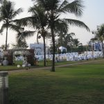 Setting up for a wedding by Juliamaud
