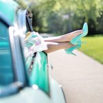 womans-legs out of car Photo by jill111