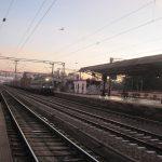 Train arriving at Sawai Madhopur - photo by Juliamaud