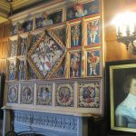 Portraits over the fire place at Newstead Abbey -photo by Juliamaud
