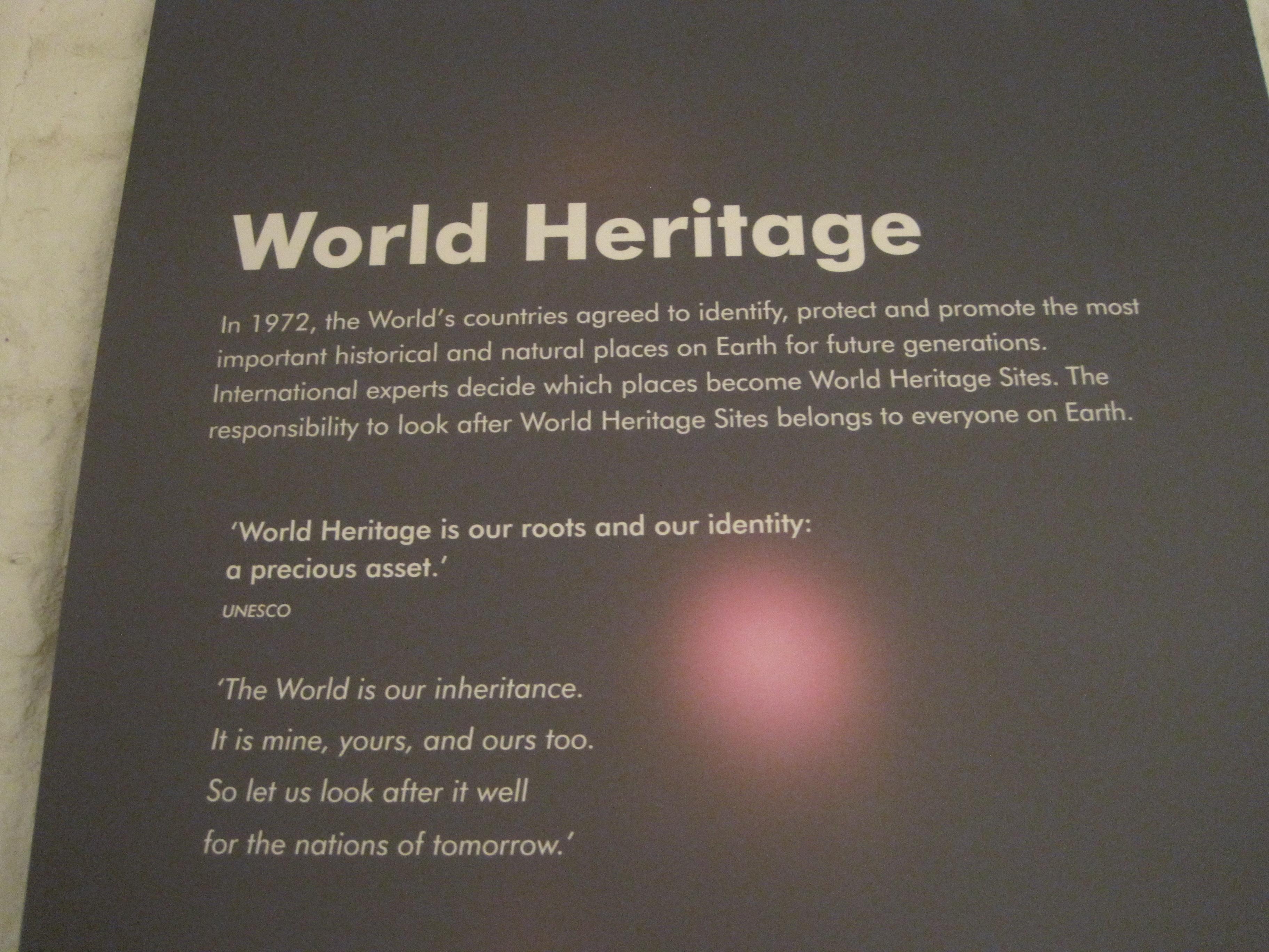 World heritage sign at Blaenavon Industrial Landscape - photo by juliamaud