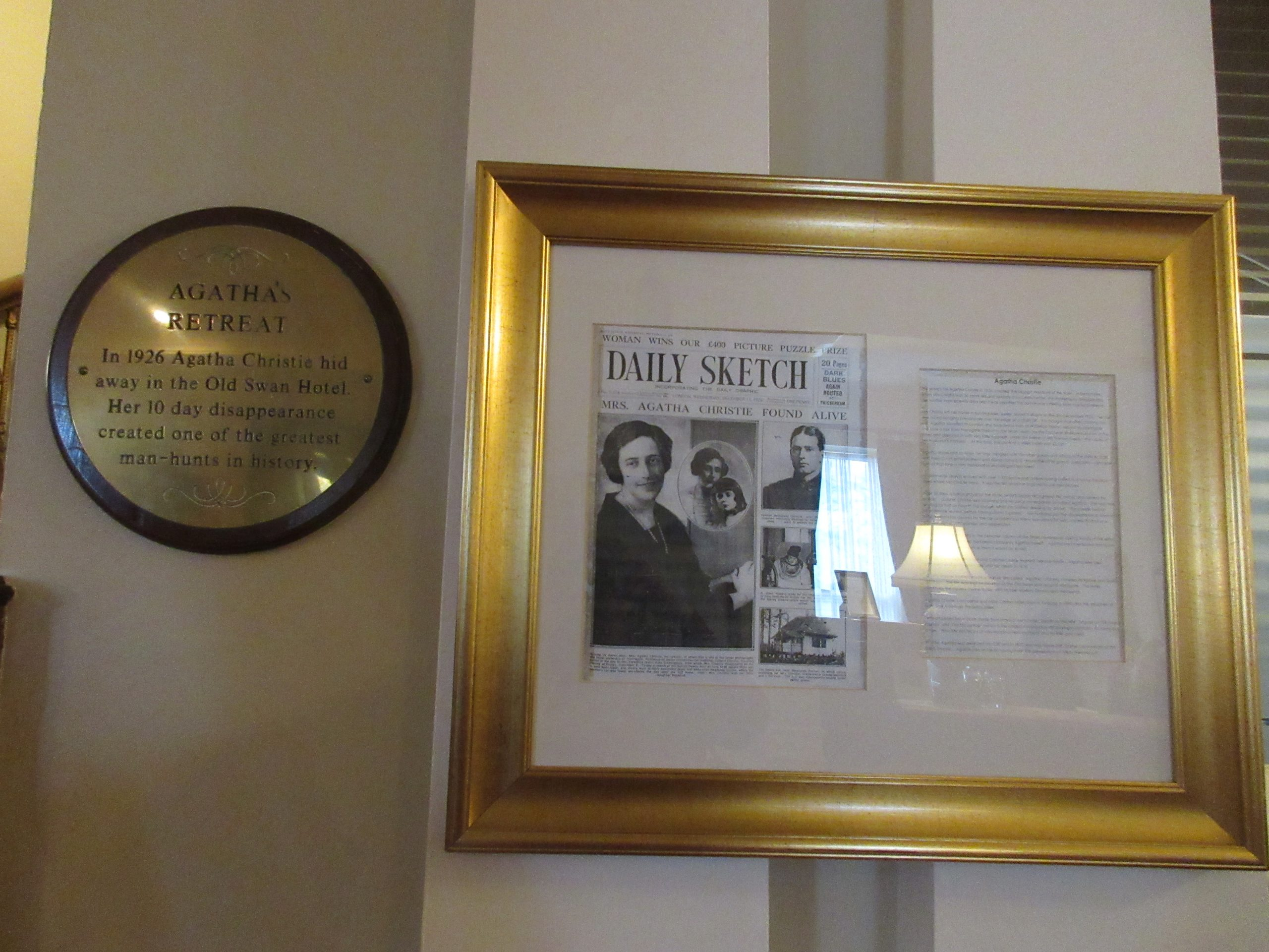 Agatha Christie disappears to Harrogate – photo by Juliamaud