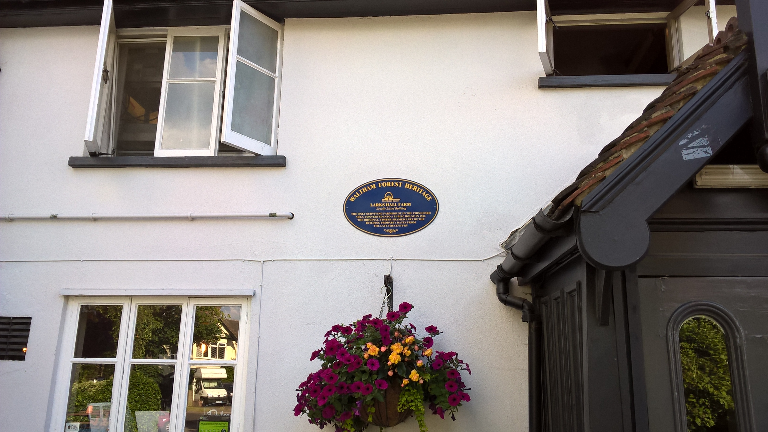 Larkshall Farm Blue Plaque - photo by Juliamaud